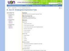 Kindergarten Exploration Tubs Lesson Plan