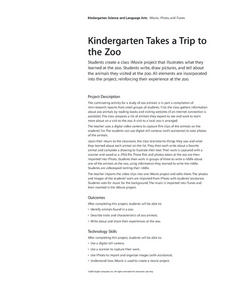 Kindergarten Takes a Trip to the Zoo Lesson Plan