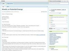 Kinetic Vs. Potential Energy Lesson Plan