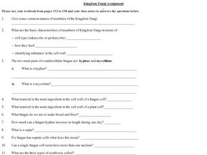 Printables 10th Grade Biology Worksheets kingdom fungi 8th 10th grade worksheet lesson planet worksheet