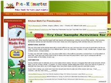 Kitchen Math For Preschoolers Lesson Plan