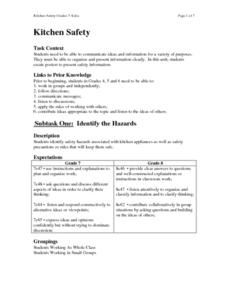 Kitchen Safety 9th - 12th Grade Lesson Plan | Lesson Planet