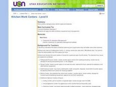 Kitchen Work Centers Level Ii 9th Grade Lesson Plan Lesson Planet