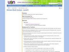 Kitchen work centers level ii 9th grade lesson plan lesson planet Kitchen design lesson plans