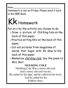 Kk Homework Worksheet