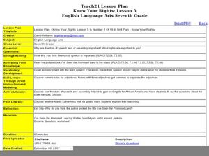 Know Your Rights Lesson Plan