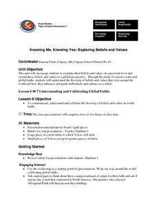 Knowing Me, Knowing You: Exploring Beliefs and Values Lesson Plan