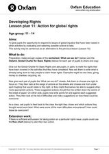 Knowing your Global Human Rights Lesson Plan