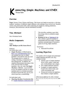 Konnecting Simple Machines and K'Nex Lesson Plan