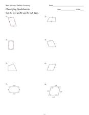 kuta software infinite geometry classifying quadrilaterals 9th 12th grade worksheet. Black Bedroom Furniture Sets. Home Design Ideas