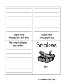 KWL Snake Booklet Worksheet