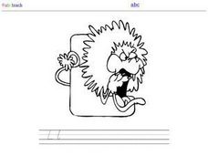 L Is for Lion:  DeNelian Printing Letter Ll Worksheet