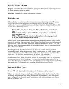 lab 6 kepler 39 s laws 9th 12th grade worksheet lesson planet. Black Bedroom Furniture Sets. Home Design Ideas