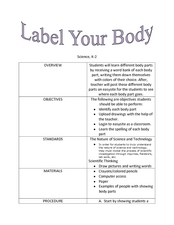 Label Your Body Lesson Plan