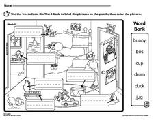 Labeling the Nouns in a Picture Worksheet