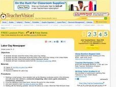 Labor Day Newspaper Lesson Plan