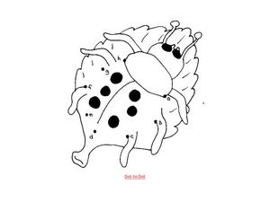 Ladybug Dot to Dot Worksheet