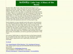Lake Log: Diary of the Basin Lesson Plan