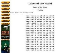 Lakes of the World Worksheet