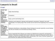 Lamarck Is Dead! Lesson Plan