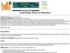 Land Bridge theory of Migration Lesson Plan