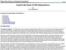 Land is the Basis of All Independence Lesson Plan
