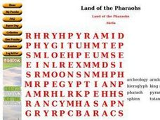Land of The Pharaohs Worksheet