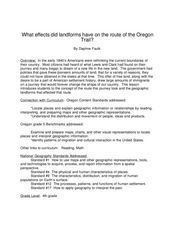 Landforms And The Oregon Trail Lesson Plan