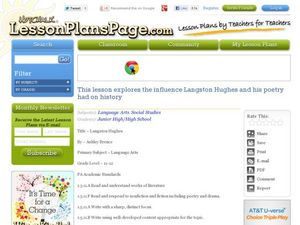 Langston Hughes Poetry Lesson Plan