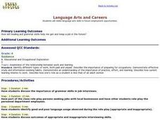 Language Arts and Careers Lesson Plan