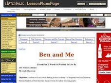 Language Arts: Ben and Me - Words of Wisdom to Live By Lesson Plan
