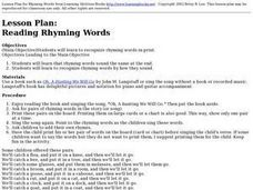 Language Arts: Rhyming Words Lesson Plan