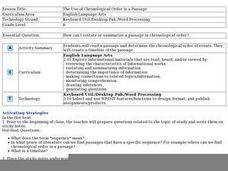 Language Arts: Sequencing Timelines Lesson Plan