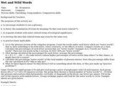 Language Arts: Wet and Wild Words Lesson Plan