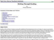 Language Arts: Writing Through Reading Lesson Plan