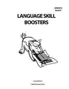 Language Skill Boosters Grade 6 Worksheet