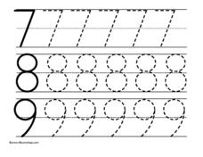 Large Numbers Trace 7-9 Worksheet