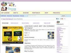 Lascaux Cave Art on Ceramic Stones Lesson Plan