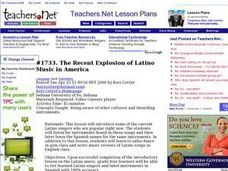 Latino Music in America Lesson Plan