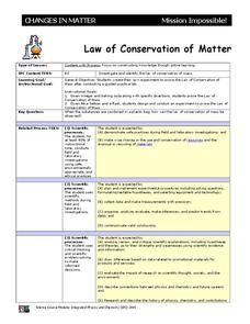 Law of Conservation of Matter 9th - 12th Grade Activities ...