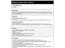 Law of the Land Lesson Plan