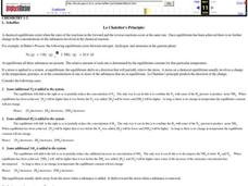 Le Chatelier's Principle Worksheet