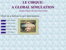 Le Cirque: A Global Simulation Lesson Plan