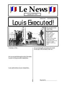 Le News:  Louis Executed Worksheet