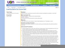 Lead Up Skills for Corner Ball Lesson Plan