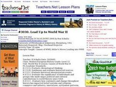 Lead Up to World War II Lesson Plan