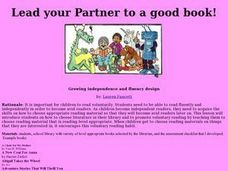 Lead Your Partner To a Good Book Lesson Plan
