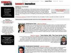 Leaders in Journalism Lesson Plan