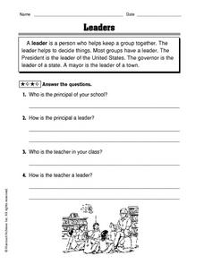 Leaders Worksheet