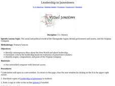 Leadership in Jamestown Lesson Plan
